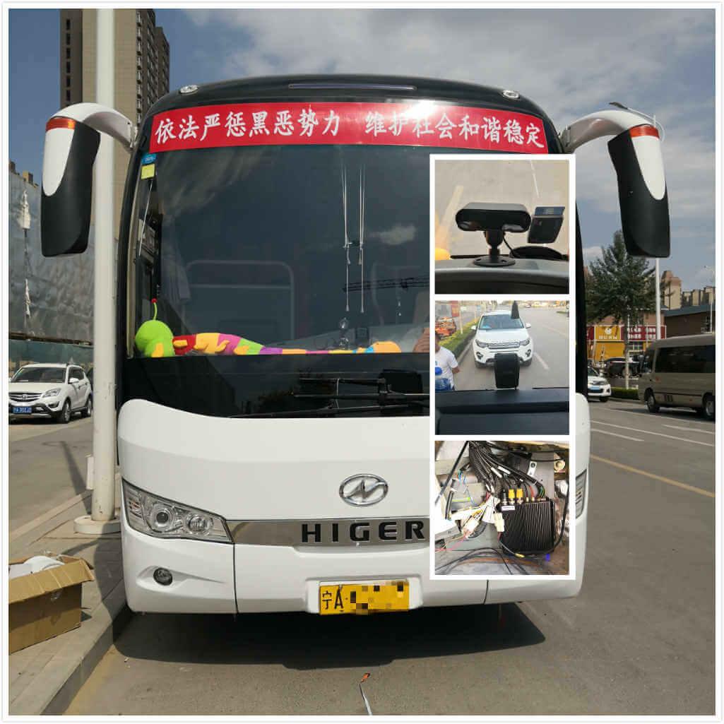 客车安装ADAS防碰撞主动安全预警